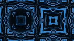 Vj Loops Animation Blue Squares Background Stock Footage