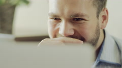 Chatting on a laptop Stock Footage