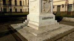 Statue of Alexander von Humboldt, Berlin, Germany Stock Footage