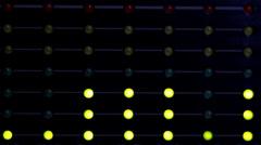 Audio level LED's indicators Stock Footage