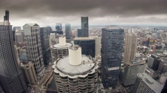 Time Lapse of Chicago facing WEST from the 47th floor of the AMA Building. Stock Footage