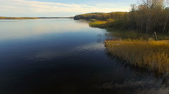 Top view on the Vuoksa Stock Footage