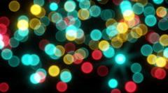 Moving bokeh light sparkles seamless loop in 4k Stock Footage