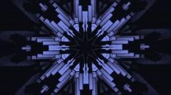 Vj Loops Blue HD Kaleidoscope Lego Visual Background Stock Footage