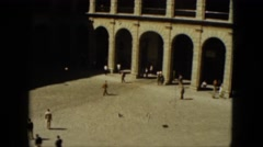 1962: top down view tourism area people walk MEXICO Stock Footage