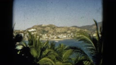 1962: view of a tropical location for vacation MEXICO Stock Footage