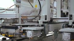Adhesive PVC profile - plastic windows manufacture. 4k Stock Footage