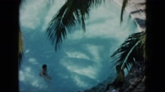 1962: kid swimming pool freestyle move fast water waves MEXICO Stock Footage