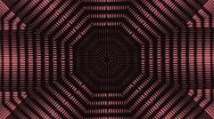 Vj Loops Red HD Kaleidoscope Lego Background Stock Footage