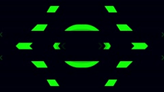 Vj Loops Strobe Party Green HD Visual Stock Footage