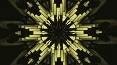 Vj Loops Yellow HD Kaleidoscope Lego Background Club Visual Stock Footage