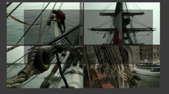 Sailing Video Wall Stock Footage