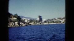 1962: a stunning view of the hills and mountains as seen from a moving vessel Stock Footage