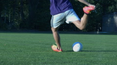Dribbling and shooting the ball Stock Footage