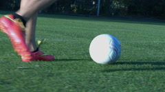 Dribling  a soccerbal Stock Footage