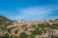 Beautiful view of the small town Valldemossa Stock Photos