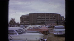 1962: parking lot of the plaza de toros MEXICO Stock Footage