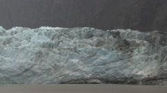 Alaska Glacier Cloudy Stock Footage