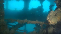 Wreck Diving Stock Footage