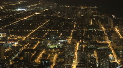 4K UltraHD Wide aerial view after dark in Chicago, Illinois Arkistovideo