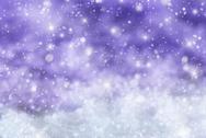 Purple Christmas Background With Snow, Snwoflakes, Stars Stock Photos