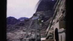 1957: at the top of the newly constructed water irrigation plant LAS VEGAS Stock Footage