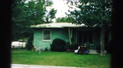 1957: a view of a house that in not the best condition LAS VEGAS, NEVADA Stock Footage