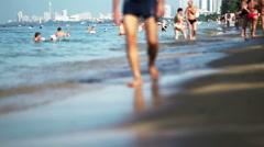 Pattaya Beach Resort Town Stock Footage
