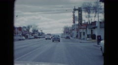1959: a driving tour observing restaurants and hotels in the city LAS VEGAS Stock Footage