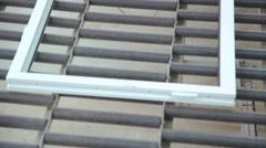 Metal-plastic window on the line Stock Footage