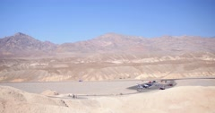 Death Valley National Park: Highway & Tourists Stock Footage