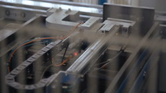 Automatic line of windows production Stock Footage