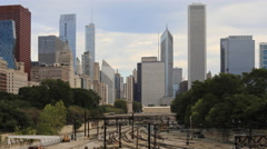 4K UltraHD A Timelapse of an aerial of the Chicago, Illinois skyline Arkistovideo
