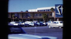 1959: motel in the tropic area with old fashion cars LAS VEGAS, NEVADA Stock Footage