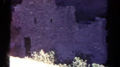 1967: ruins of what appears to be a compound, building or a old fort COLORADO Stock Footage