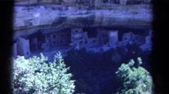 1967: native american cliff dwellings COLORADO Stock Footage