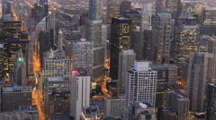 4K UltraHD Aerial timelapse of the Chicago, Illinois city center Arkistovideo