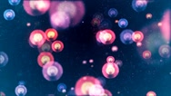 HD Loopable Background with nice flying flashlights Stock Footage