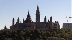 Canada's Parliament Buildings - Peace Tower Stock Footage