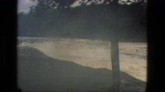 1979: a torrent of water rushes downriver showing the awesome power of nature Stock Footage