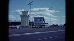 1959: through a suburban area vehicles are moving fast on the roads ARIZONA Stock Footage