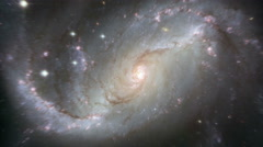 Rotating Spiral Galaxy - Deep Space Exploration Stock Footage