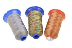 Bobbin With Silk Thread Stock Photos
