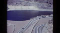1959: aerial view large dam surrounding area. ARIZONA Stock Footage