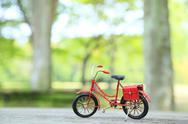 Miniature bicycle in nature Stock Photos