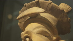 Ancient Art from Pre Colombian Ecuador Stock Footage