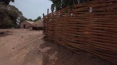Africa village with water deposit  - Guinea Bisseau Stock Footage