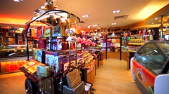 Sweets, candies, cookies, cakes store in Kuala Lumpur International airport. Stock Footage