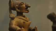 Ancient Ecuador Art - South American Statue Stock Footage