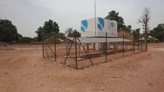 New water deposit in africa village - Guinea Africa Stock Footage